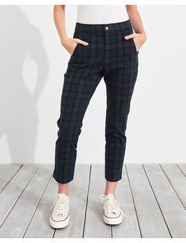 Stretch Ultra High Rise Crop Taper Pant by Hollister