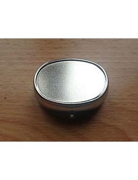 Oval Pocket Ashtray Brushed Metal by Ebay Seller