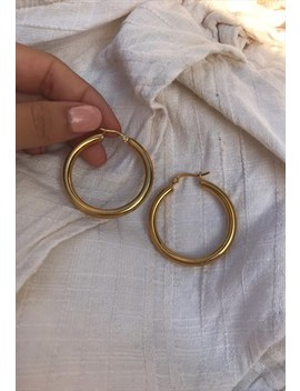 Chunky Thick Gold Hoop Earrings by Silks And Stars