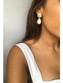 Modern Muse Resin Drop Earrings by Silks And Stars