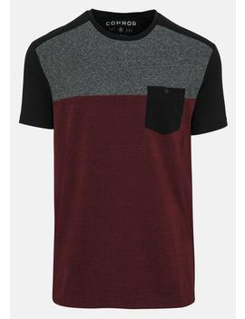 Burgundy Sumner Crew Tee by Connor