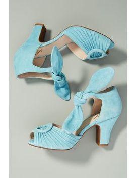 Miss L Fire Bow Tied Peep Toe Heels by Miss L Fire