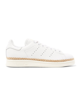 Stan Smith Bold Rope Trimmed Leather Sneakers by Adidas Originals