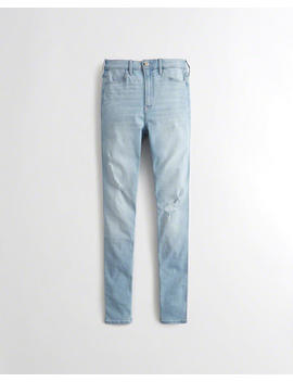 Classic Stretch Ultra High Rise Super Skinny Jeans by Hollister