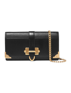 Cahier Smooth And Textured Leather Shoulder Bag by Prada