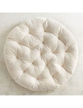 Plush Ivory Striped Papasan Cushion by Pier1 Imports