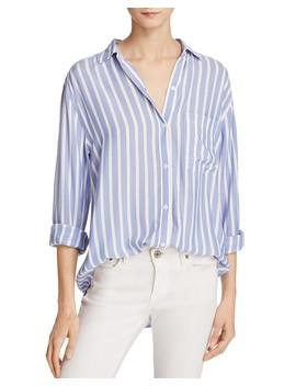Janelle Striped Button Down Shirt   100 Percents Exclusive by Rails
