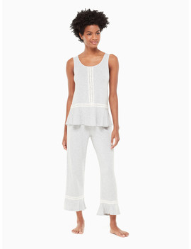 Lace Trim Long Pj Set by Kate Spade