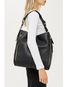 Hailee Zip Hobo Bag by Topshop