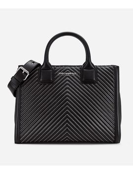 K/Klassik Quilted Leather Tote Bag by Karl Legerfeld