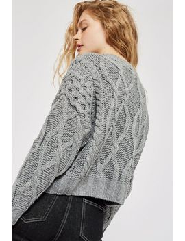 Petite Cable Sweater by Topshop