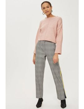 Petite Mohair Ribbed Cropped Sweater by Topshop