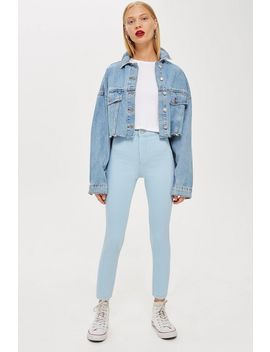Moto Bleach Joni Crop Jeans by Topshop