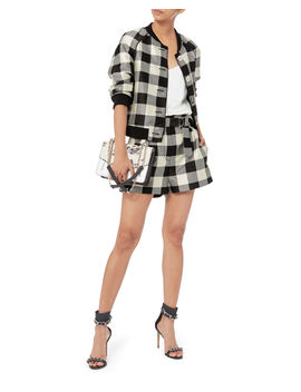 Gingham Belted Military Shorts by 3.1 Phillip Lim