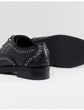Asos   Monterey   Chaussures Plates Cloutées En Cuir by Asos Collection