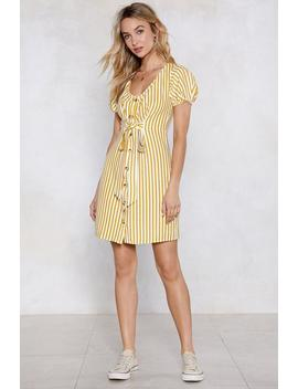 On A Call Striped Dress by Nasty Gal