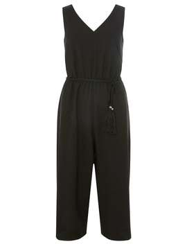 Black Tassel Belt Culotte Jumpsuit by Dorothy Perkins