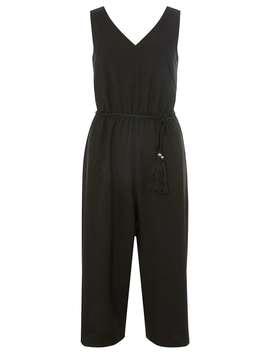 Black Tassel Belt Culotte Jumpsuit by Dorothy Perkins