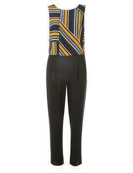 Multi Coloured Striped Double Layer Jumpsuit by Dorothy Perkins