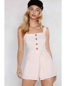 Romp Your Ground Button Romper by Nasty Gal