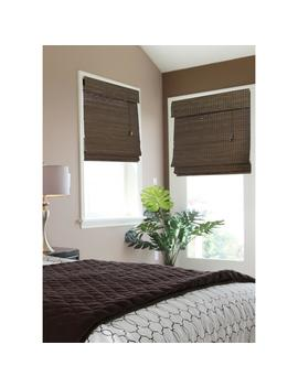 Espresso Flatweave Bamboo Roman Shade   35 In. W X 72 In. L (Actual Size 34.5 In. W X 72 In. L) by Home Decorators Collection