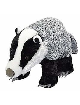 Wild Republic 19413 Badger Plush Soft Toy, White/Black, 30 Cm by Amazon