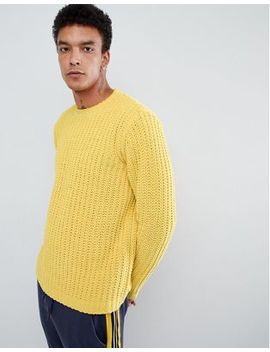 Asos Design Heavyweight Chenille Sweater In Yellow by Asos Design