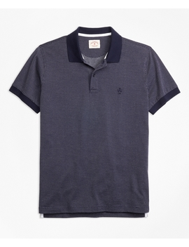Bird's Eye Knit Cotton Polo Shirt by Brooks Brothers
