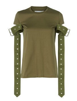 Belt Sleeve Green T Shirt by Marques' Almeida