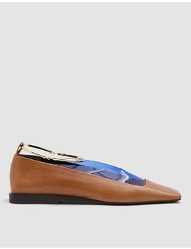 Tripon Mixed Material Loafer With Gold Ring by Jil Sander
