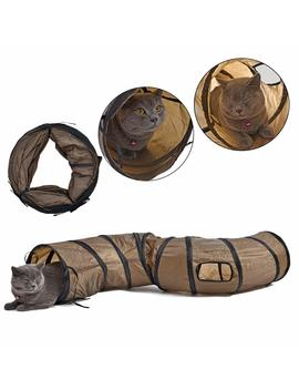 Pawz Road Collapsible Cat Tunnel Toys,Play Tube For Kittens,Rabbits 25*120 Cm Best Play House & Shelter To Keep Pet Entertained by Amazon