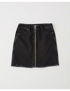 Zipper Denim Mini Skirt by Abercrombie & Fitch