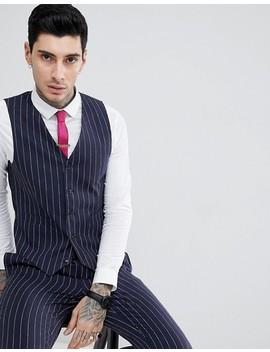 Gianni Feraud – Enger Anzug Mit Nadelstreifen by Asos Brand