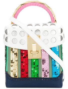Polka Dot Brogue Detail Handbag by The Volon