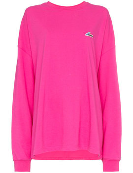 Well Done Patch Oversized Cotton Jersey Sweatshirt by We11done