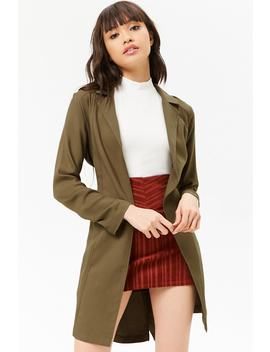 Open Front Wrap Coat by Forever 21