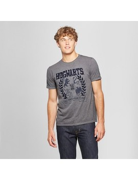 Men's Harry Potter Hogwarts Crest Short Sleeve T Shirt   Gray Shadow by Harry Potter