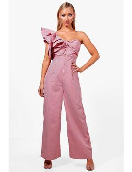 Statement Shoulder Culotte Jumpsuit by Boohoo