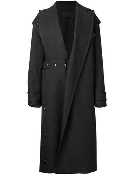 Proenza Schouler Asymmetrical Belted Long Coathome Women Clothing Double Breasted & Peacoats by Proenza Schouler
