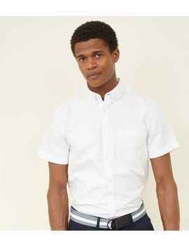 White Oxford Short Sleeve Shirt by New Look