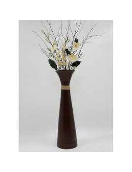 Bloomsbury Market Kawamura Plantation Bamboo Magnolias Floor Vase by Bloomsbury Market