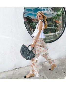 Rare! Nwt Zara Ss18 Ruffled Pants Trousers Nude 2832/833 Xs,S,<Wbr>M,L by Zara