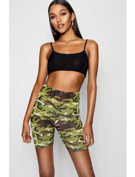 Tall Camo Print Cycling Shorts by Boohoo