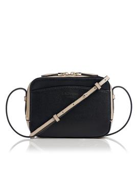 Mariel Taupe Black Leather Shoulder Bag by L.K.Bennett