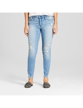 Women's Mid Rise Destructed Skinny Jeans   Universal Thread™ Light Wash by Universal Thread™