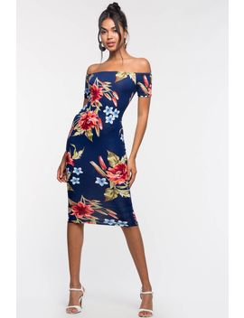 La Vista Floral Bodycon Dress by A'gaci