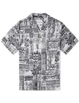 Mki Short Sleeve Tile Print Vacation Shirt by Mki