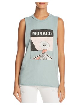 Monaco Graphic Muscle Tank   100 Percents Exclusive  by Michelle By Comune