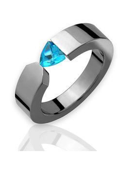 925 Sterling Silver Natural Gem Stone Blue Topaz Men's Ring Jewelry Us 7 8 9 by Etsy