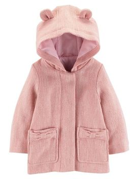Hooded Faux Wool Jacket by Carter's